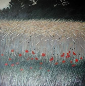 Poppies in Wheat 1 by Richard Reynolds Ward