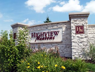 Highview Meadows Sign