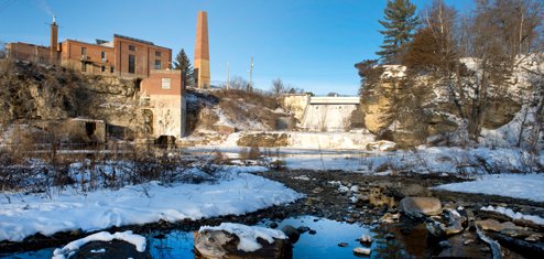 powerplant in winter